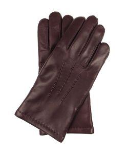 62f8866afac34 Męskie rękawiczki ocieplane, miękka skóra nappa - bordowe, burgund