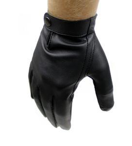 5351c259d7b3d Męskie rękawiczki nieocieplane - wygodny model z zapięciem