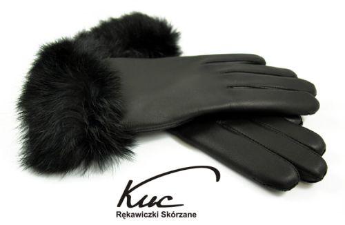 29c742d434e94 Piękne damskie rękawiczki ocieplane z wykończeniem naturalnym futerkiem z  królika. 4f3cc46079a8e3c19967a5d679c0968b50d98aab