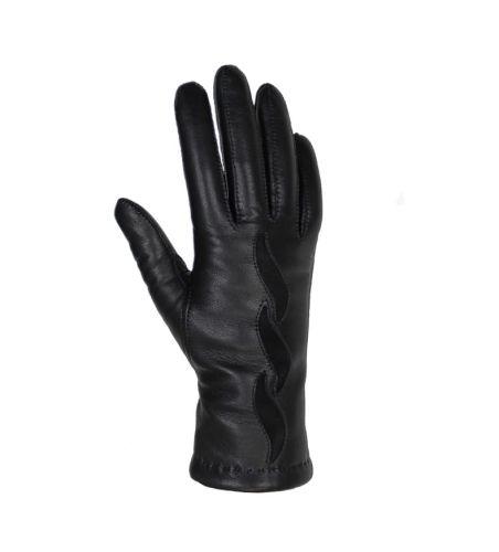 a3013cfcf8fc8 Eleganckie damskie rękawiczki skórzane zdobione - czarne - Sklep ...