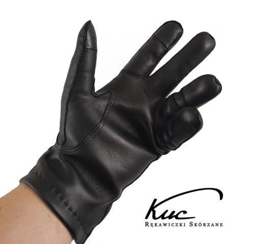 4775ff2179ec3 Ciepłe rękawiczki skórzane do ekranów dotykowych - rękawiczki touch screen