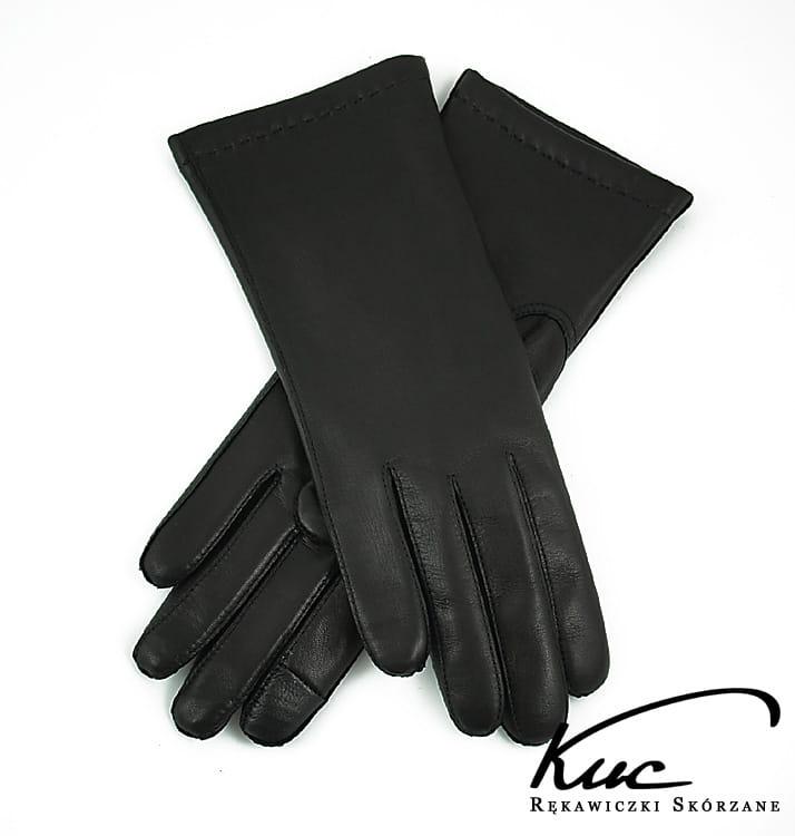 fdee37176938c Damskie eleganckie rękawiczki skórzane do ekranów dotykowych ...